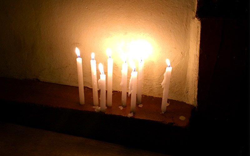 procissao das almas velas para oracao